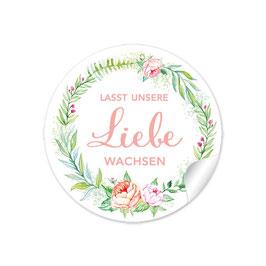 """""""Lasst unsere Liebe wachsen"""" - Rosenkranz - rosa grün apricot"""