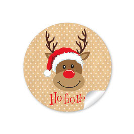 """Ho Ho Ho"" - Rudolph - natur"
