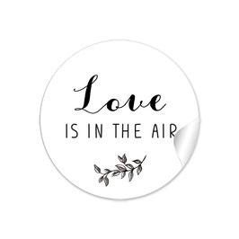 """""""Love ist in the Air"""" -Zweig schwarz weiß"""