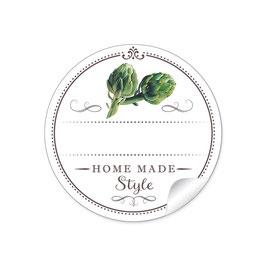 """""""Home Made Style""""- Artischocken - weiß"""