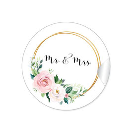 """MR. and MRS. - Ringe Rosen rosa weiß grün"