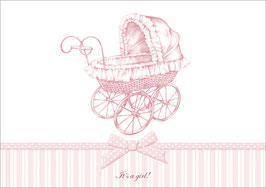 """It´s a girl!"" - Kinderwagen - Rosa"