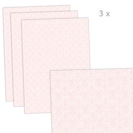 3 Bögen Geschenkpapier groß - ORNAMENTE - ROSA