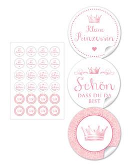Krone - rosa - gemischt