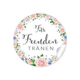 """""""Für Freudentränen"""" - Vintage Blumenkranz - rosa / blau"""