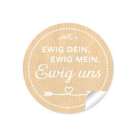 """""""Ewig dein, ewig mein, ewig uns""""- Shabby Chic Style - natur"""