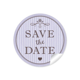 """Save the Date"" - Vintage Ornamente - lila"