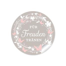 """""""Für Freudentränen"""" - Schmetterlinge - sand / rosa"""