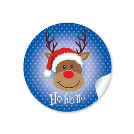 """""""Ho Ho Ho"""" - Rudolph - dunkelblau"""