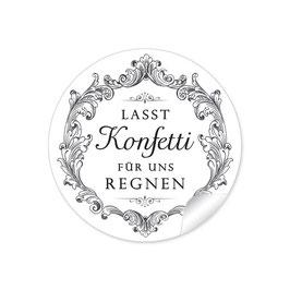 """""""Lasst Konfetti für uns regnen"""" - Vintage Ornamente  - schwarz"""