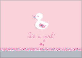 """It´s a girl!"" - Ente - Rosa"