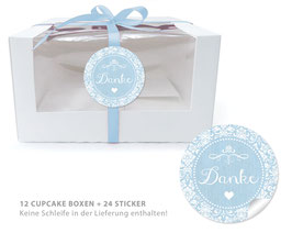 "BIO BOX SET - ""Danke"" Shabby Chic - blau"
