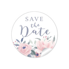 """Save the Date"" - Pastell rosa"