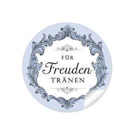 """""""Für Freudentränen"""" - Ornamente Floral - schwarz / blau"""