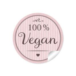 """""""100% Vegan"""" - rosa"""