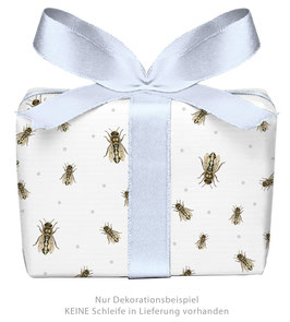 3 Bögen Geschenkpapier groß - Biene