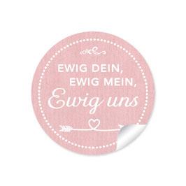 """""""Ewig dein, ewig mein, ewig uns""""- Shabby Chic Style - rosa"""