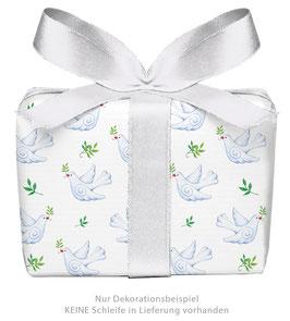 3 Bögen Geschenkpapier groß - TAUBE gedruckt auf PEFC™ zertifiziertem Papier