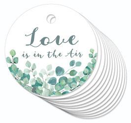 12 ANHÄNGER • Love is in the Air  • Boho Eukalyptus grün