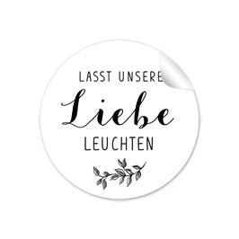 """""""Lasst unsere Liebe Leuchten""""- Zweig schwarz weiß"""