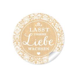 """""""Lasst unsere Liebe wachsen"""" - Shabby Chic - Natur"""