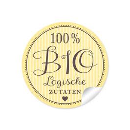 """""""100% BIO Logische Zutaten- Retro Style -Gelb"""