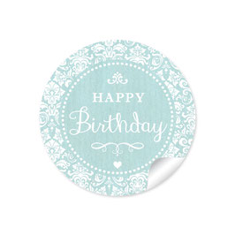 """Happy Birthday"" - Shabby Chic - mint"
