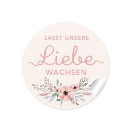 """Lasst unsere Liebe wachsen"" - Blüten - rosa creme"