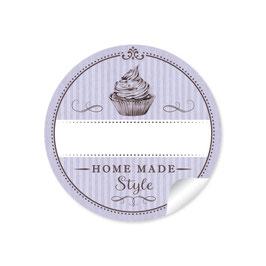 """Home Made Style""- Cupcake - lila"