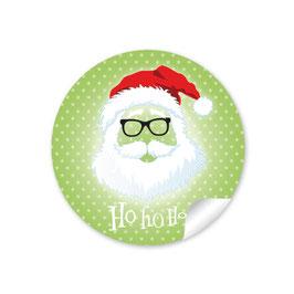 """Ho Ho Ho"" -  Hipster Nikolaus - grün"