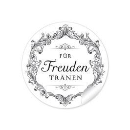 """""""Für Freudentränen"""" - Ornamente Floral - schwarz / weiß"""