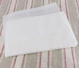 Flachbeutel Pergamintüten - halbtransparent - 130 x 95 + 15 mm
