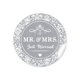 """MR. and MRS.  - Just married"" - Ornamente - grau"