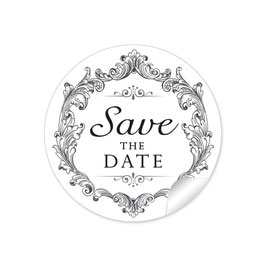 """Save the Date"" - Vintage Ornamente - schwarz"