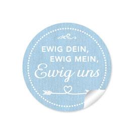 """""""Ewig dein, ewig mein, ewig uns""""- Shabby Chic Style - blau"""