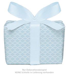 3 Bögen Geschenkpapier groß - Wabenmuster Vintage - hellblau