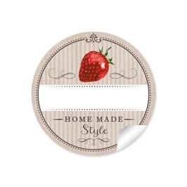 """Home Made Style""- Erdbeere - beige"