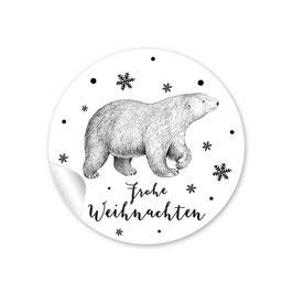 FROHE WEIHNACHTEN - Eisbär weiß