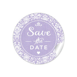 """Save the Date"" - Vintage  Retro Ornamente - lila"