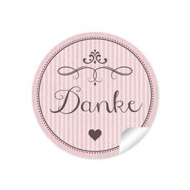 """""""Danke"""" - Ornamente - rosa"""