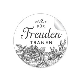"""""""Für Freudentränen"""" - Rosen -weiß / schwarz"""