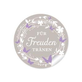 """""""Für Freudentränen"""" - Schmetterlinge - lila beige"""