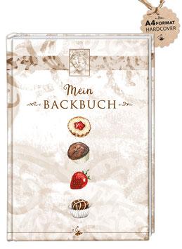 """DIN A4 KREATIV DIY BACKBUCH """"Mein Backbuch"""" zum Selbstbeschreiben braun (Hardcover)"""