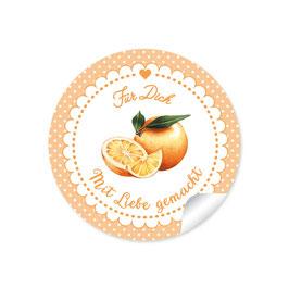 """""""Für Dich - Mit Liebe gemacht""""- Orangen - Punkte orange"""