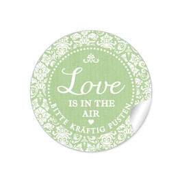 """Love ist in the Air"" - Shabby Chic - grün"