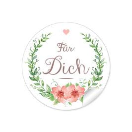 """""""Für Dich"""" - Blumenkranz - Apricot / grün"""