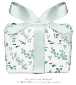 3 Bögen Geschenkpapier groß - EUKALYPTUS gedruckt auf PEFC™ zertifiziertem Papier
