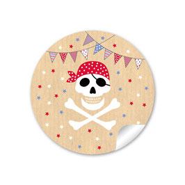 Pirat mit Wimpelkette - natur rot