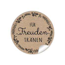 """""""Für Freudentränen"""" - Blütenranke schwarz - natur"""