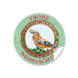 """""""Frohe Weihnachten"""" -  Eichelhäher - grün"""